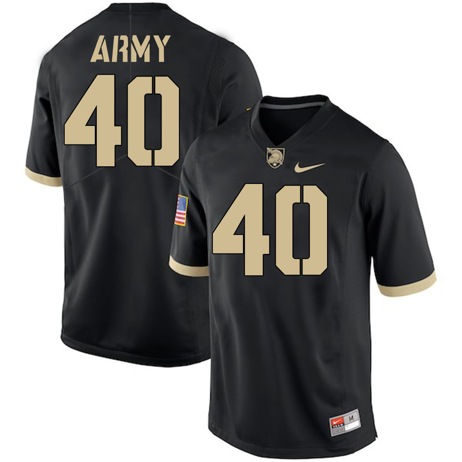 Army Black Knights 40 Andy Davidson Black College Football Jersey