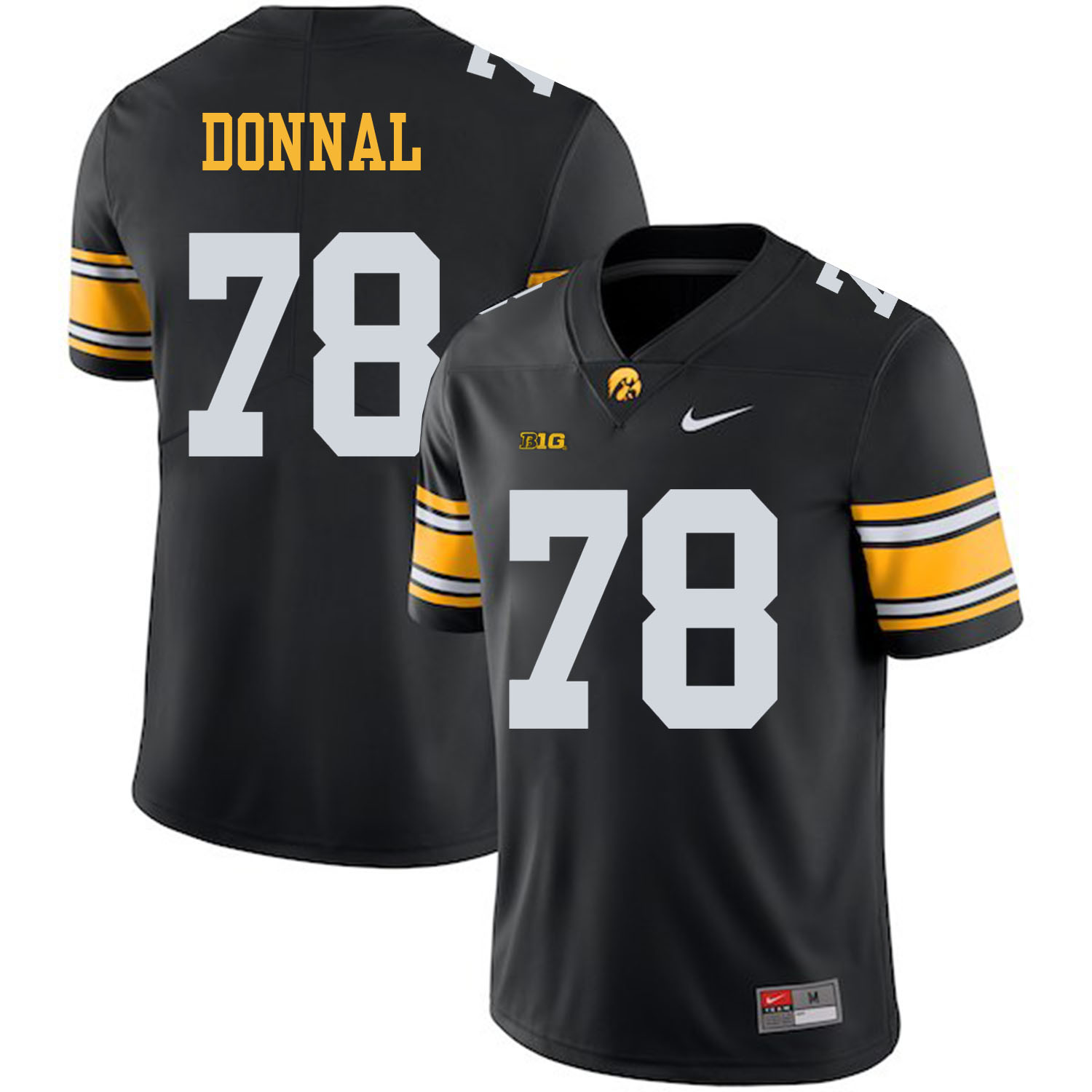 Iowa Hawkeyes 78 Andrew Donnal Black College Football Jersey