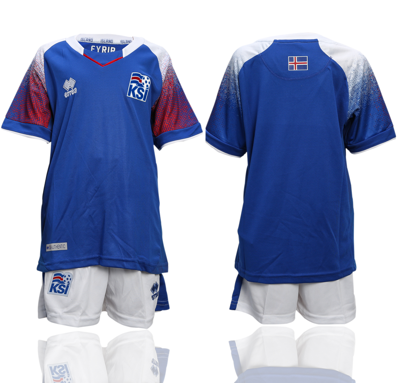 Iceland Home Youth 2018 FIFA World Cup Soccer Jersey