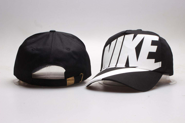 Nike Fresh Logo Black Peaked Adjustable Hat YP