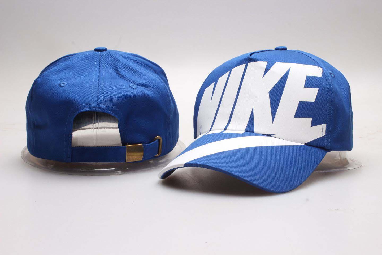 Nike Fresh Logo Blue Peaked Adjustable Hat YP