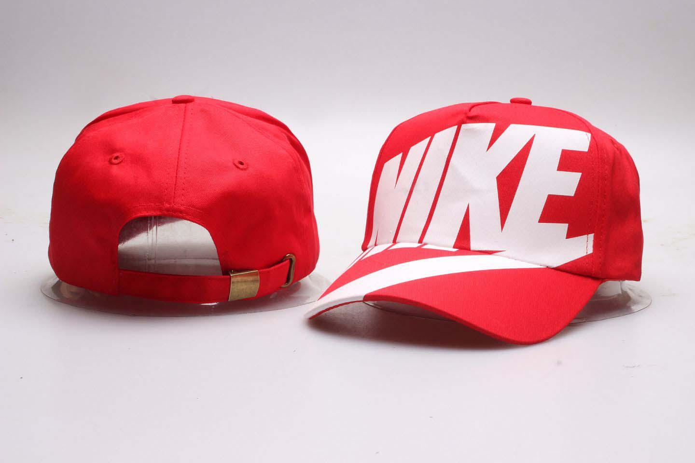 Nike Fresh Logo Red Peaked Adjustable Hat YP
