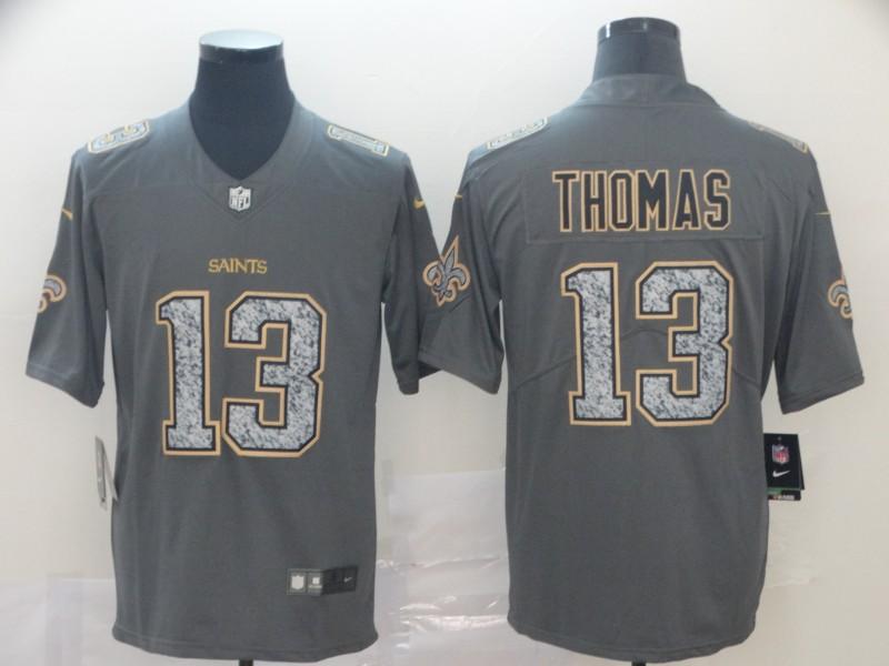 Nike Saints 13 Michael Thomas Gray Camo Vapor Untouchable Limited Jersey