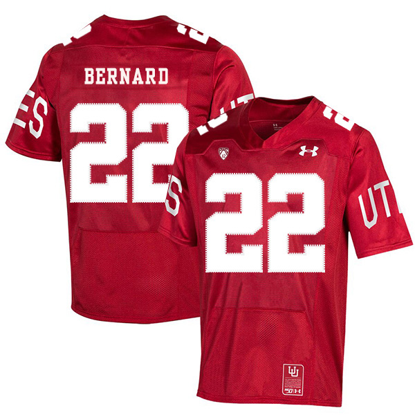 Utah Utes 22 Micah Bernard Red 150th Anniversary College Football Jersey