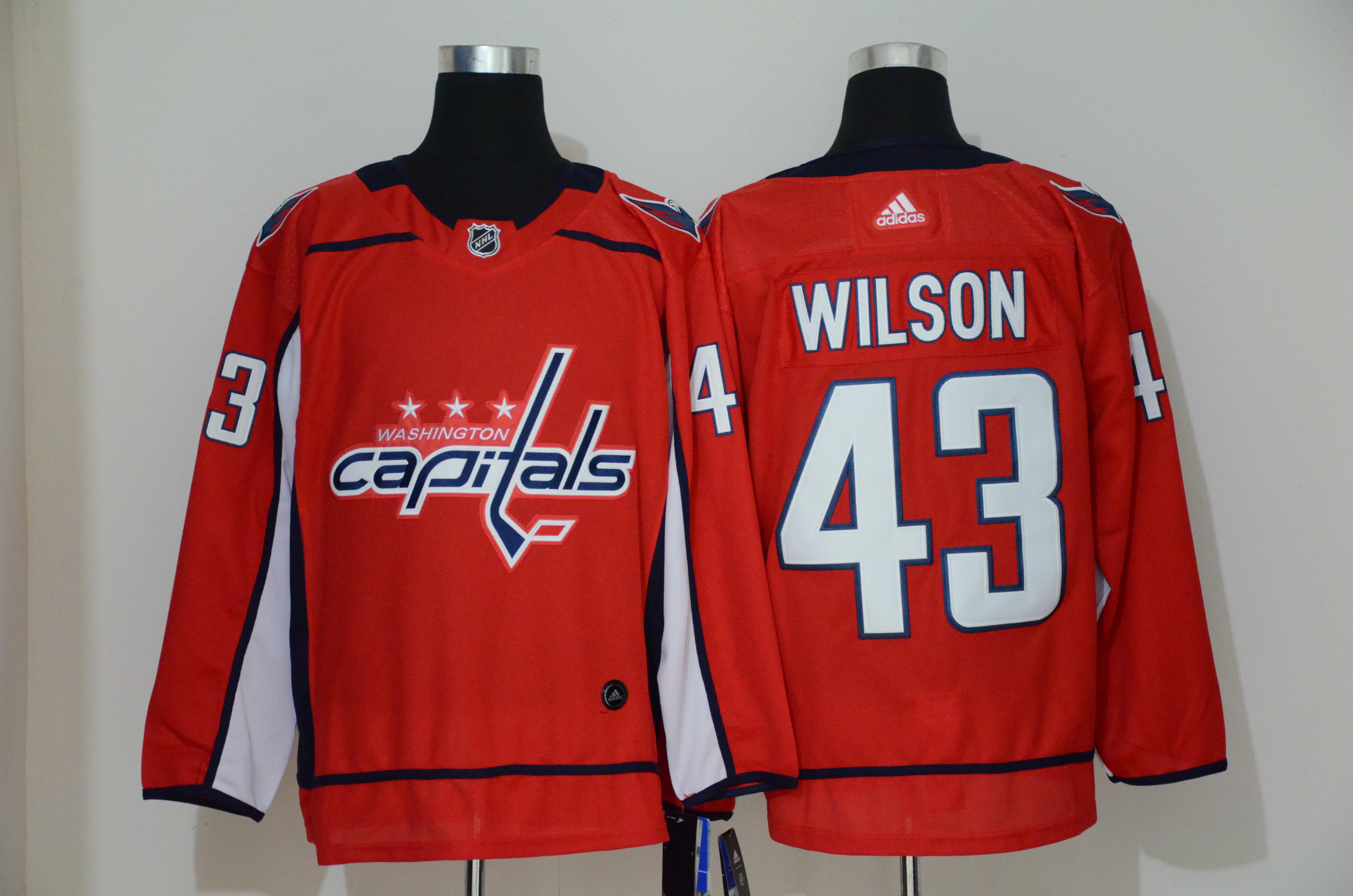 Capitals 43 Tom Wilson Red Adidas Jersey