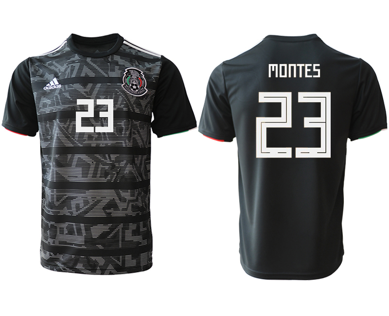2019-20 Mexico 23 MONTES Away Thailand Soccer Jersey