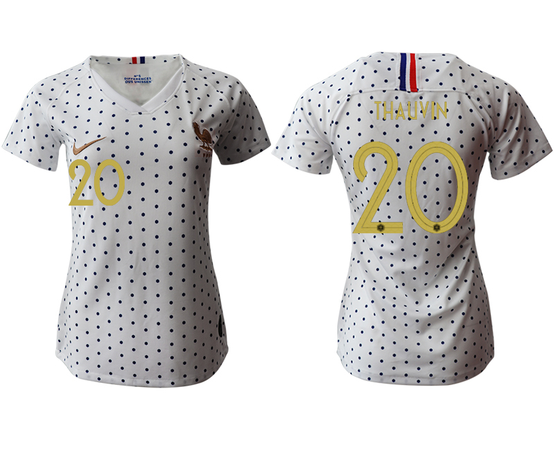 2019-20 France 20 THAUVIN Away Women Soccer Jersey