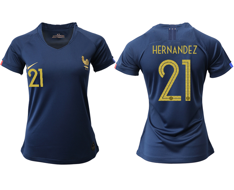 2019-20 France 21 HERNANDEZ Homen Women Soccer Jersey