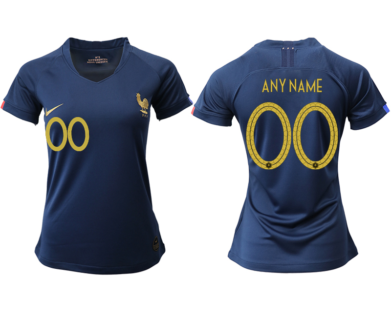 2019-20 France Customized Homen Women Soccer Jersey