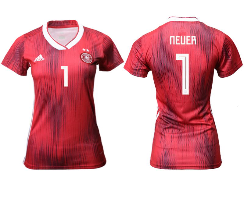 2019-20 Germany 1 NEUER Away Women Soccer Jersey