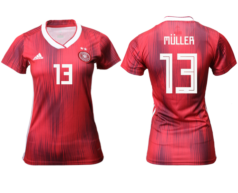 2019-20 Germany 13 MULLER Away Women Soccer Jersey