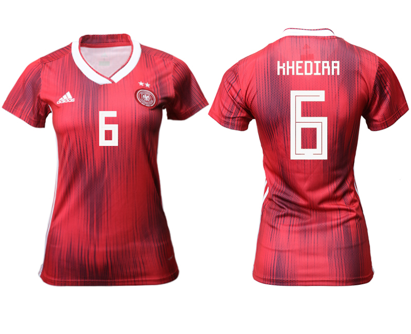 2019-20 Germany 6 KHEDIRA Away Women Soccer Jersey