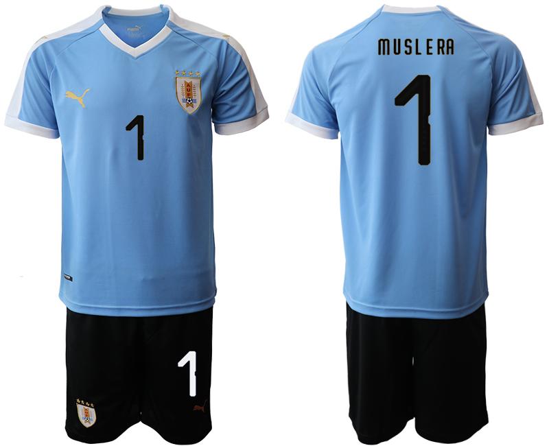 2019-20 Uruguay 1 M U SL E RA Home Soccer Jersey