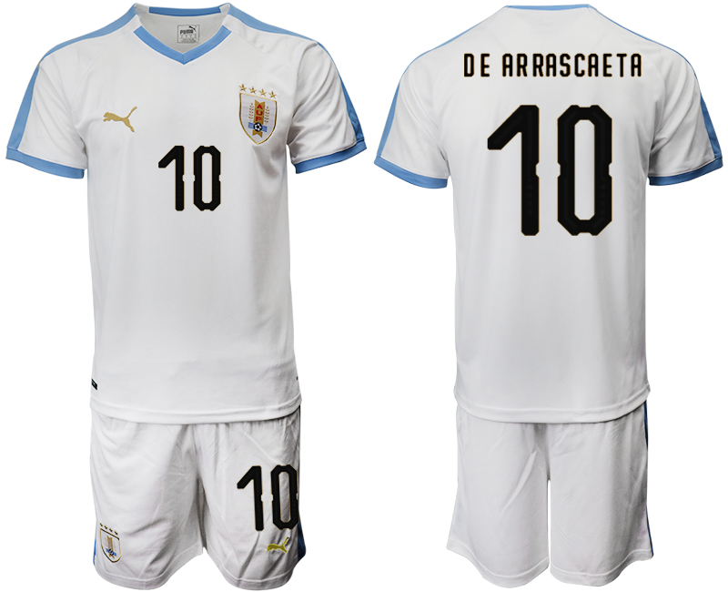 2019-20 Uruguay 10 DE AR RASCAETA Away Soccer Jersey