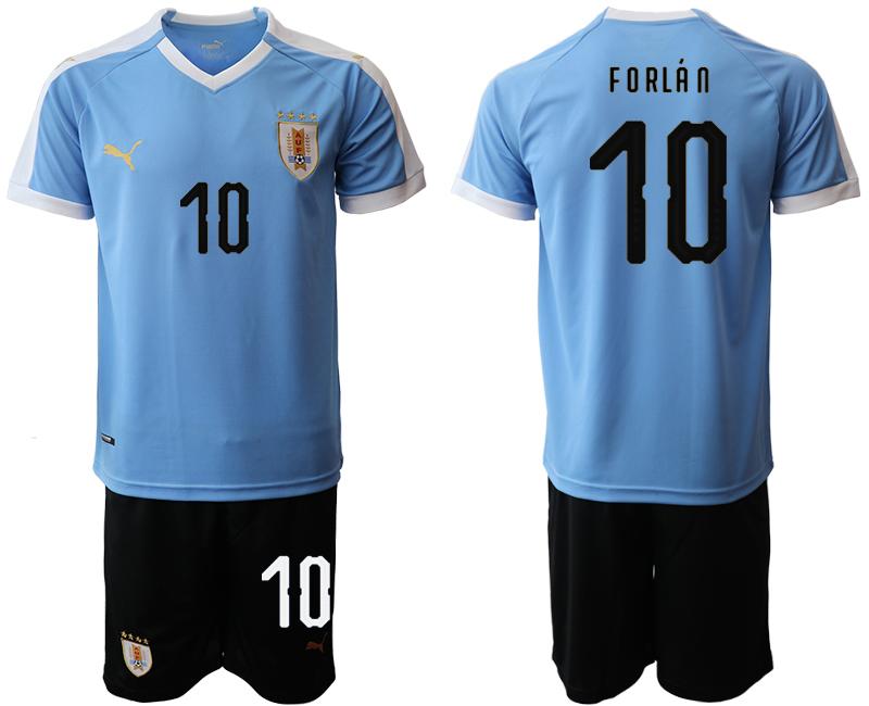 2019-20 Uruguay 10 FORLA N Home Soccer Jersey