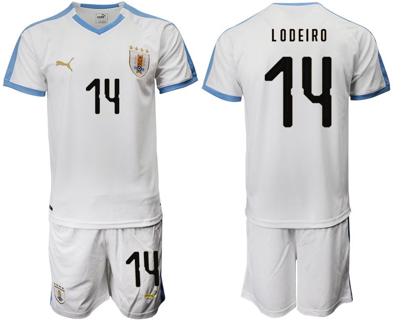 2019-20 Uruguay 14 LODEIRO Away Soccer Jersey