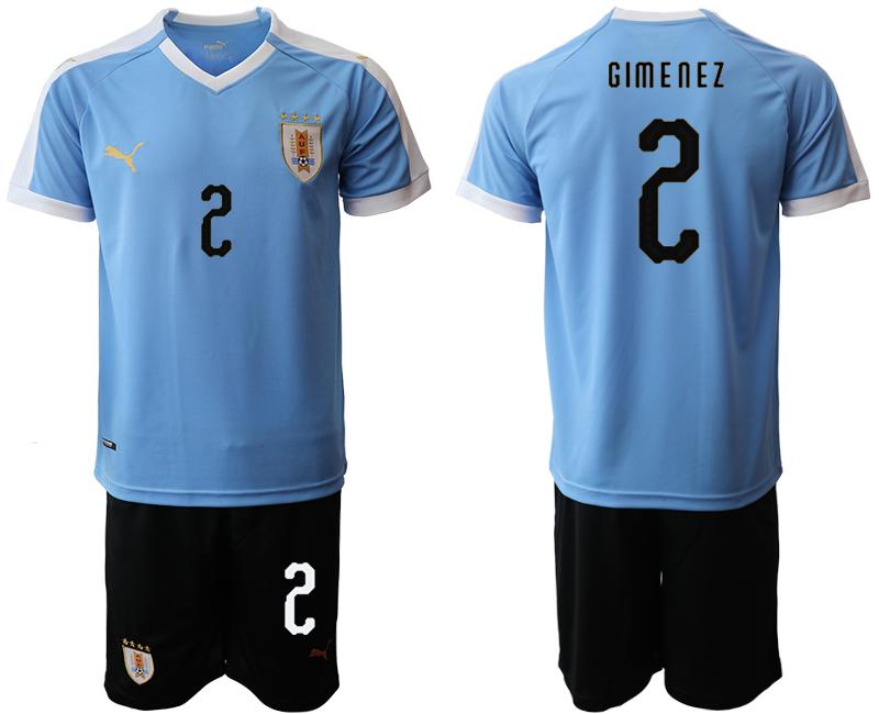 2019-20 Uruguay 2 GIM E0N E Z Home Soccer Jersey