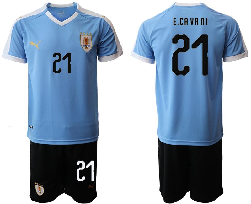 2019-20 Uruguay 21 ECA VA NI Home Soccer Jersey
