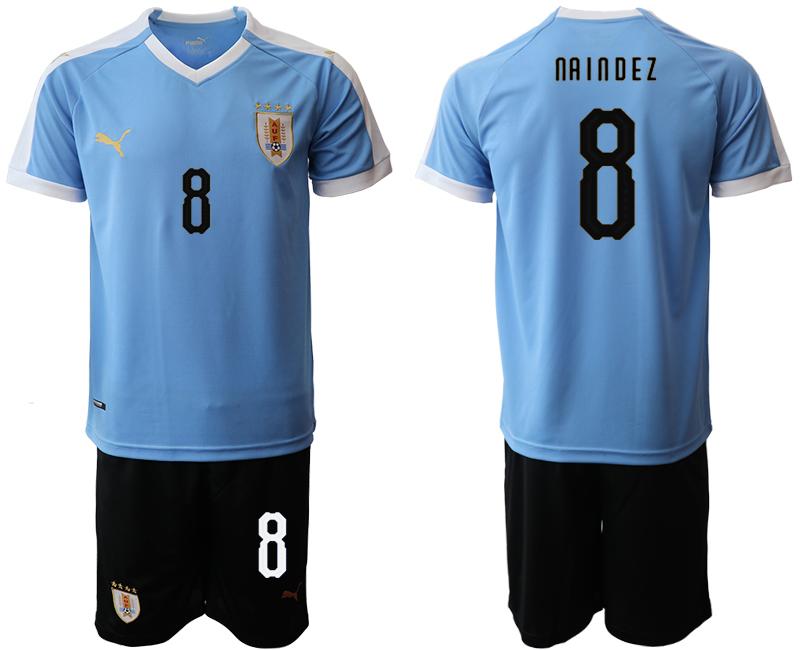 2019-20 Uruguay 8 NA I N D E Z Home Soccer Jersey