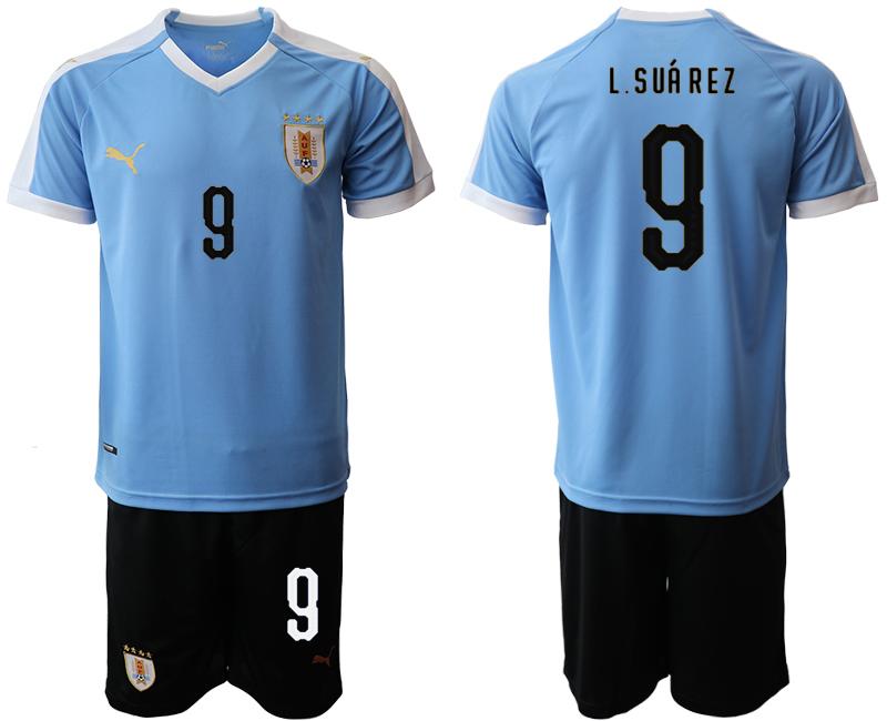 2019-20 Uruguay 9 L.S SUA R E Z Home Soccer Jersey