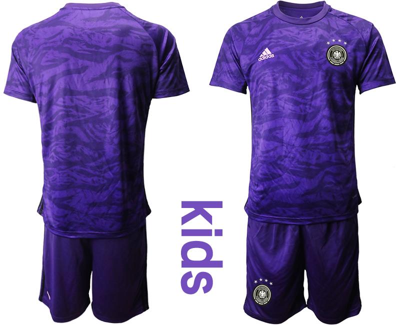 2019-20 Germany Purple Goalkeeper Youth Soccer Jersey
