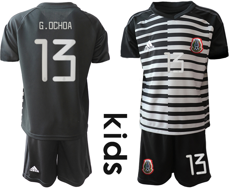 2019-20 Mexico 13 G.OCHOA Black Youth Goalkeeper Soccer Jersey