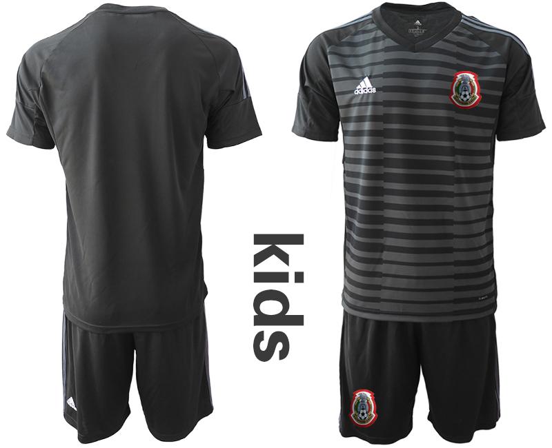 2019-20 Mexico Black Youth Goalkeeper Soccer Jerseys