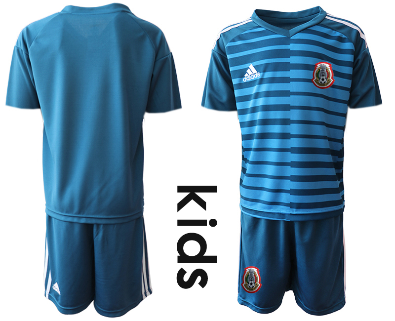 2019-20 Mexico Blue Youth Goalkeeper Soccer Jersey