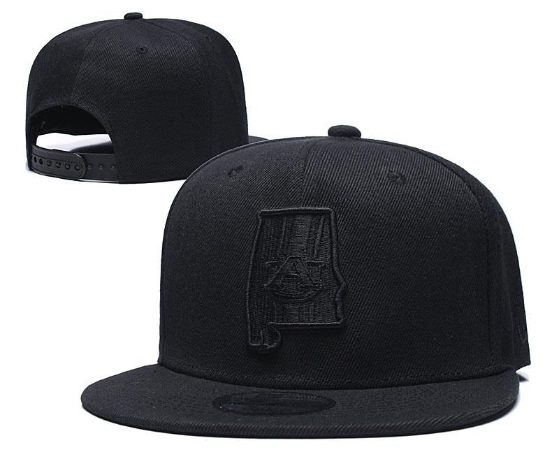 Auburn Tigers Team Logo Black Yellow Adjustable Hat GS