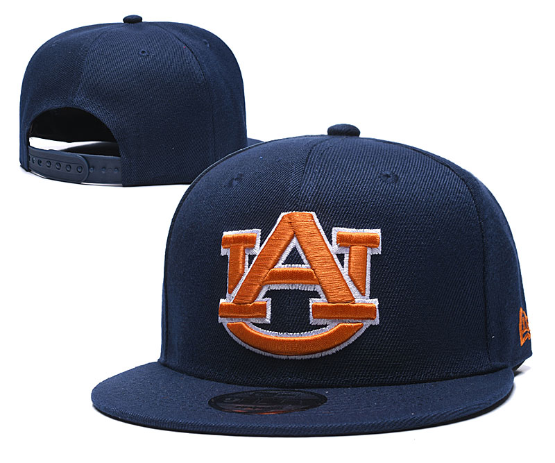Auburn Tigers Team Orange Logo Navy Yellow Adjustable Hat GS
