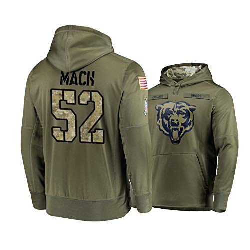 Nike Bears 52 Khalil Mack 2019 Salute To Service Stitched Hooded Sweatshirt
