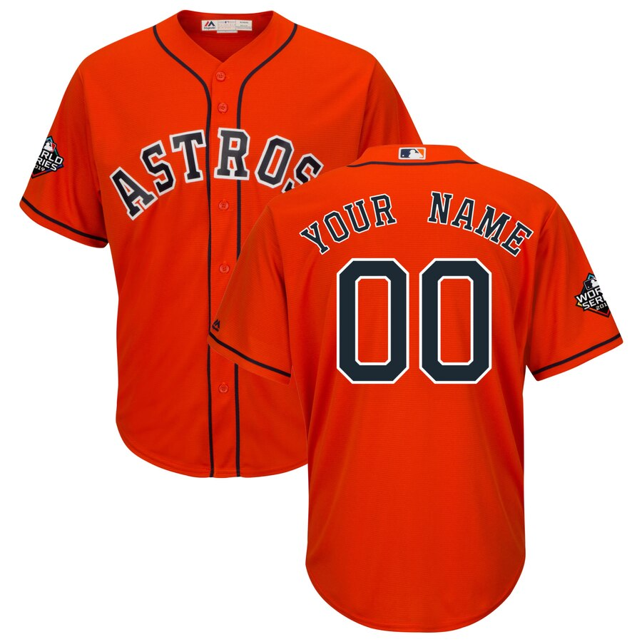 Astros Customized Orange 2019 World Series Bound Cool Base Jersey