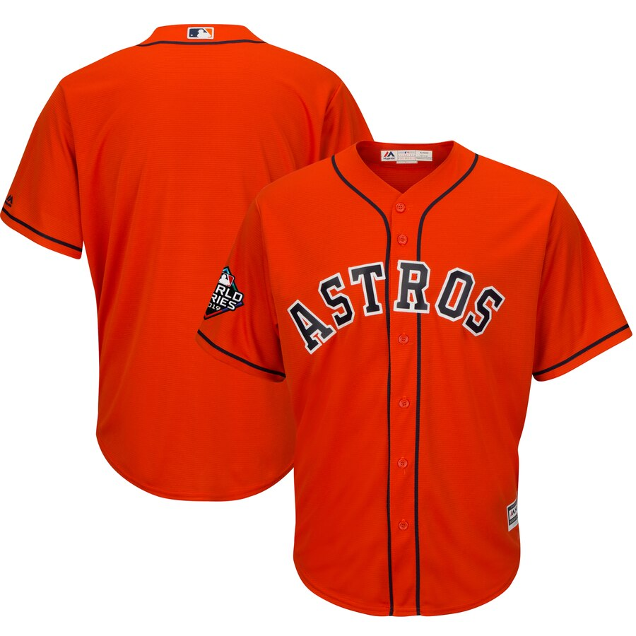Astros Blank Orange 2019 World Series Bound Cool Base Jersey