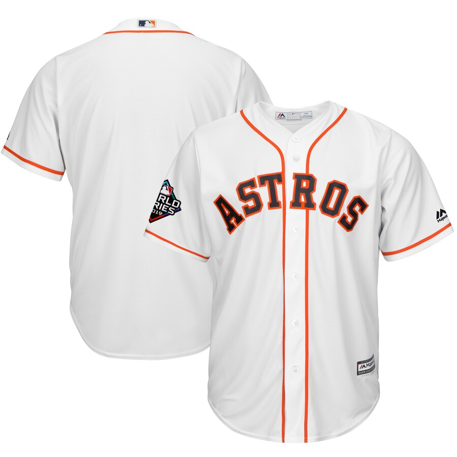 Astros Blank White 2019 World Series Bound Cool Base Jersey
