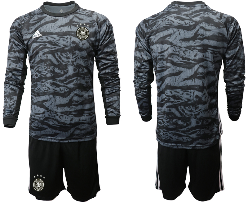 2019-20 Germany Black Long Sleeve Goalkeeper Soccer Jersey