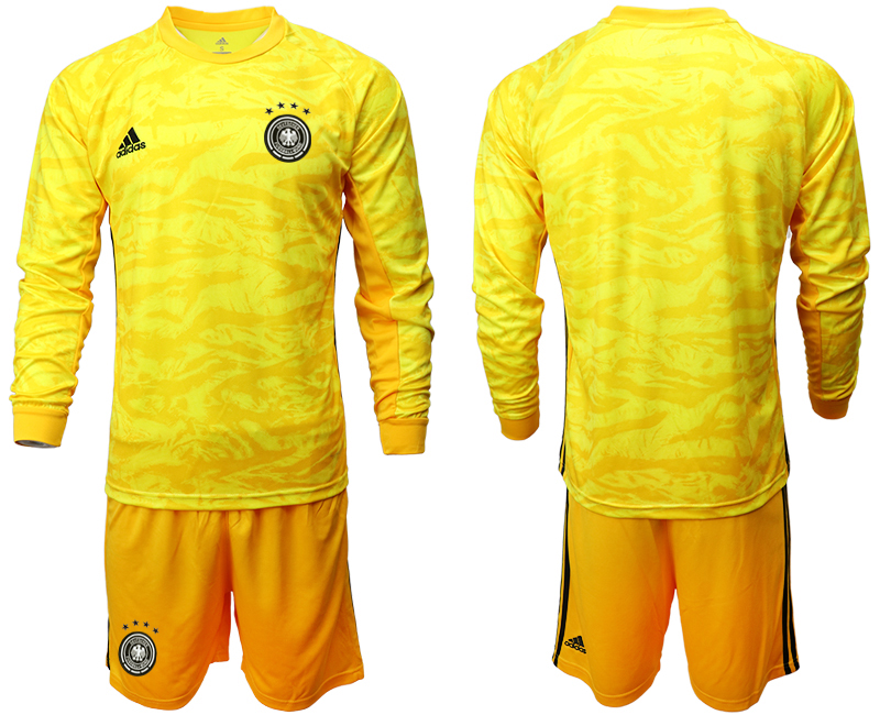 2019-20 Germany Yellow Long Sleeve Goalkeeper Soccer Jersey