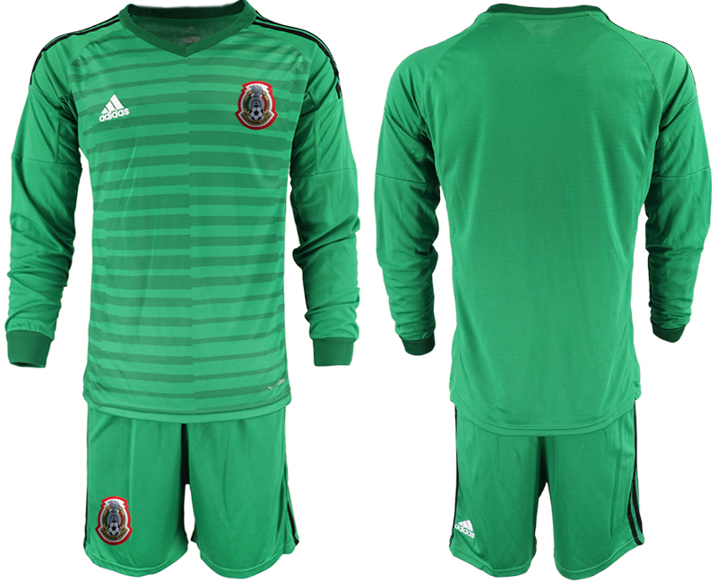 2019-20 Mexico Green Long Sleeve Goalkeeper Soccer Jersey