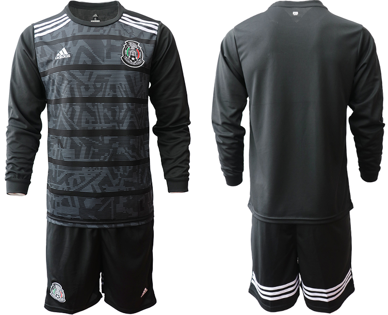 2019-20 Mexico Home Long Sleeve Soccer Jersey