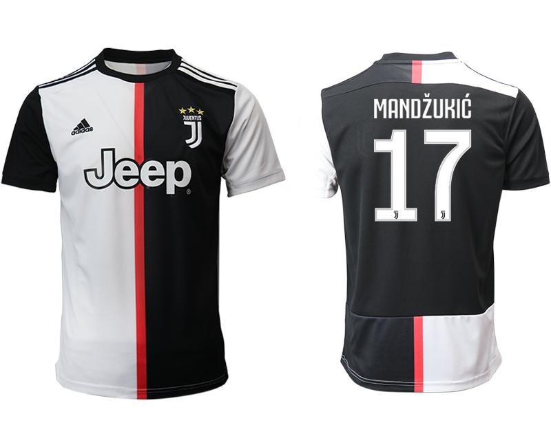 2019-20 Juventus 17 MANDZUKIC Home Thailand Soccer Jersey