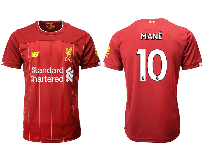 2019-20 Liverpool 10 MANE Home Thailand Soccer Jersey