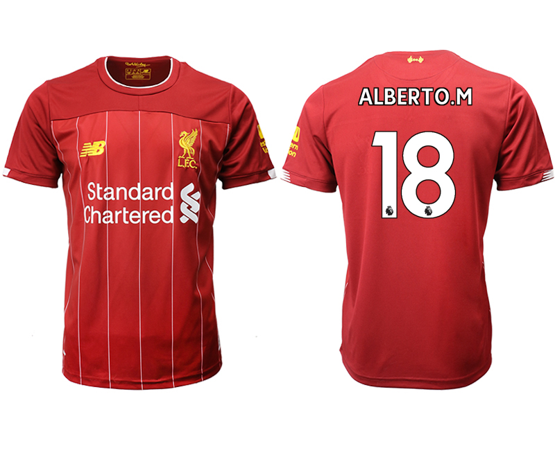 2019-20 Liverpool 18 ALBERTO.M Home Thailand Soccer Jersey