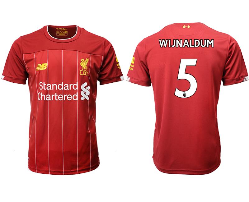 2019-20 Liverpool 5 WIJNALDUM Home Thailand Soccer Jersey