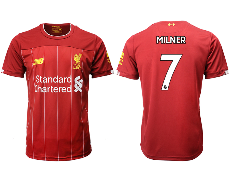 2019-20 Liverpool 7 MILNER Home Thailand Soccer Jersey