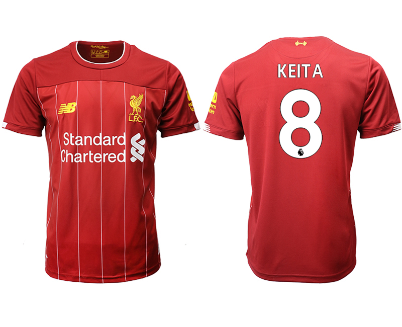 2019-20 Liverpool 8 KEITA Home Thailand Soccer Jersey