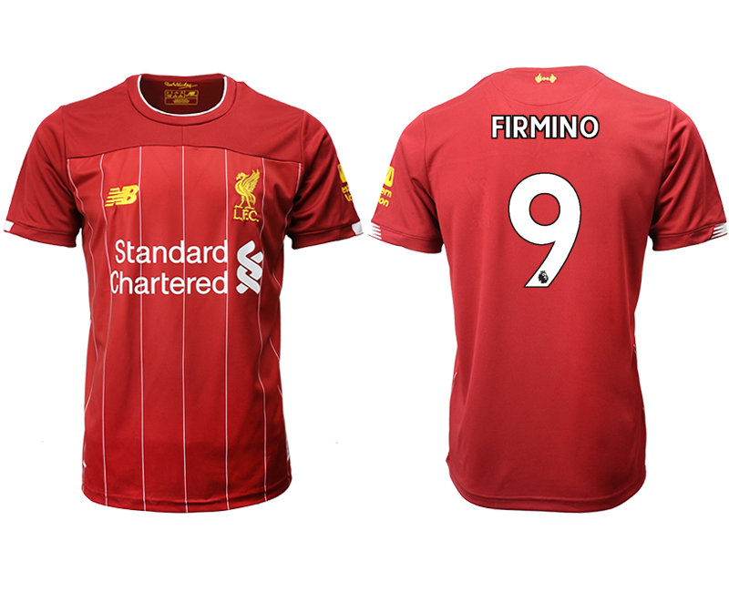 2019-20 Liverpool 9 FIRMINO Home Thailand Soccer Jersey