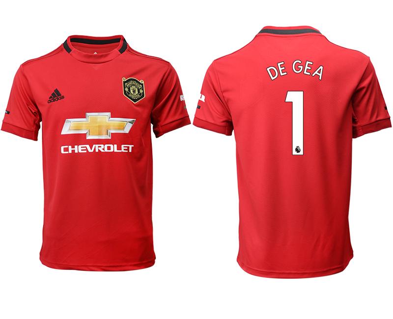 2019-20 Manchester United 1 DE GEA Home Thailand Soccer Jersey