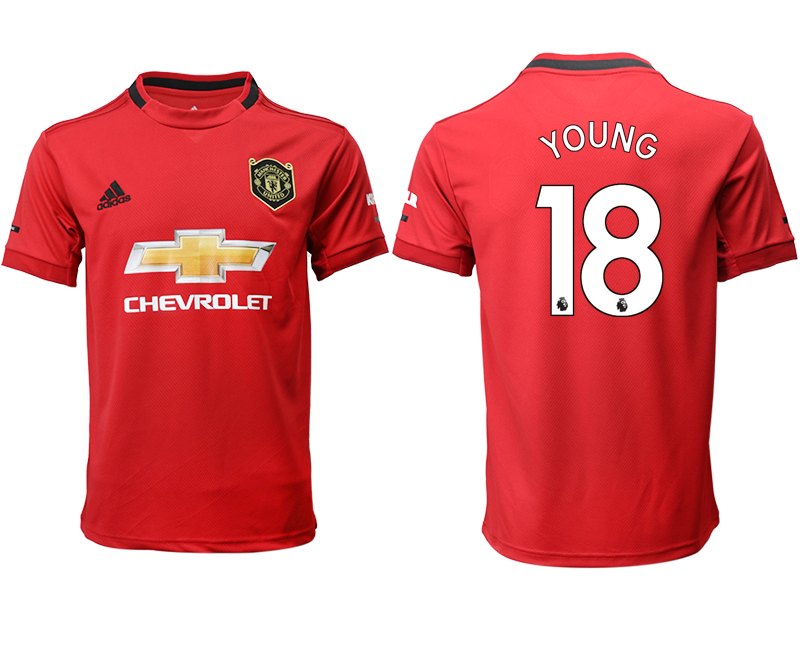 2019-20 Manchester United 18 YOUNG Home Thailand Soccer Jersey