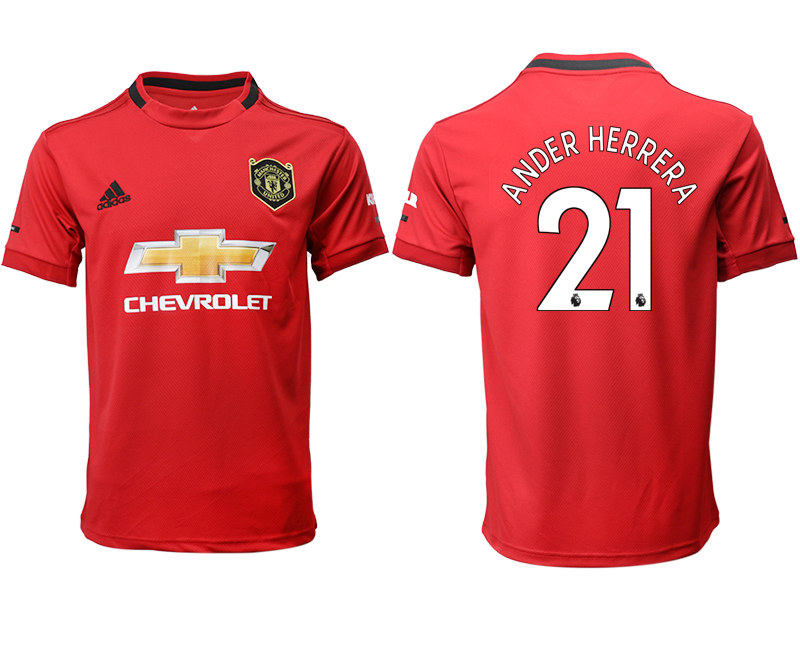 2019-20 Manchester United 21 ANDER HERRERA Home Thailand Soccer Jersey
