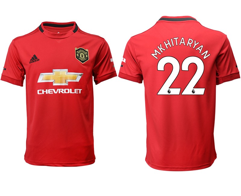 2019-20 Manchester United 22 MKHITARYAN Home Thailand Soccer Jersey
