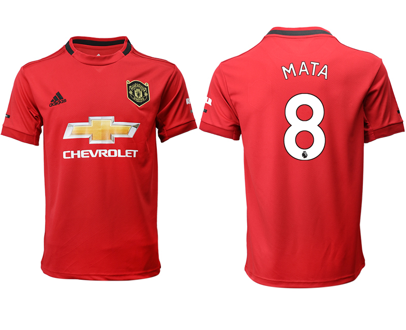 2019-20 Manchester United 8 MATA Home Thailand Soccer Jersey